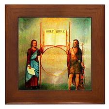 The Holy Saints John Framed Tile