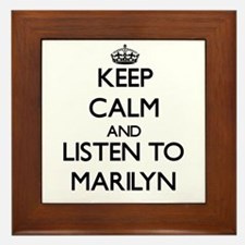 Keep Calm and listen to Marilyn Framed Tile