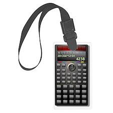 Calculator Luggage Tag