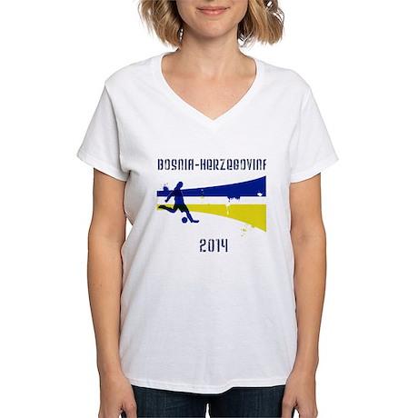 Bosnia-Herzegovina World Cup 2014 Women's V-Neck T