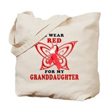 I Wear Red for My Granddaughter Tote Bag