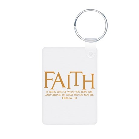 Hebrew 11:1 Aluminum Keychain (2-sided)