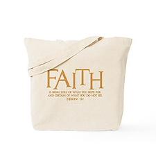 Hebrew 11:1 Tote Bag