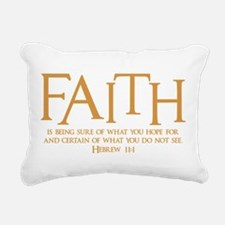 Hebrew 11:1 Rectangular Canvas Pillow