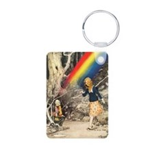 Rainbow and Pot of Gold Aluminum Photo Keychain