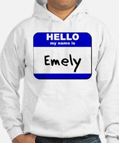 hello my name is emely Hoodie Sweatshirt