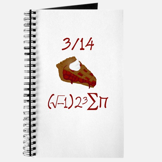 i 8 sum pi on Pie Day Journal