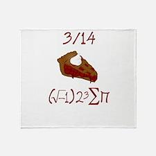 i 8 sum pi on Pie Day Throw Blanket