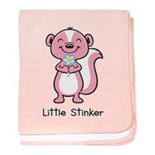 Little Stinker Pink baby blanket