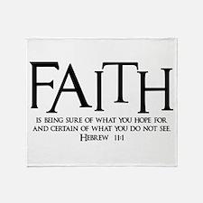 Hebrew 11:1 Throw Blanket