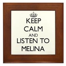 Keep Calm and listen to Melina Framed Tile