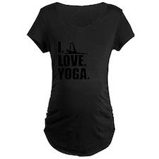 I Love Yoga Maternity T-Shirt