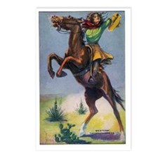 Cowgirl on Bucking Horse Postcards (Package of 8)