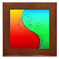 Warm and Cool Framed Tile