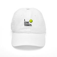 I Love Tennis Baseball Baseball Cap