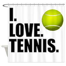 I Love Tennis Shower Curtain