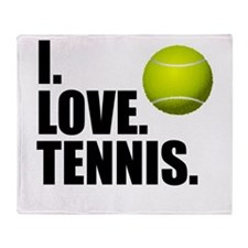 I Love Tennis Throw Blanket