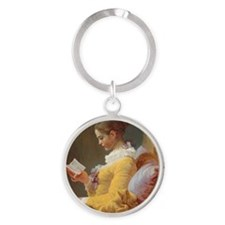 Jean-Honoré Fragonard - 'Young Girl Round Keychain