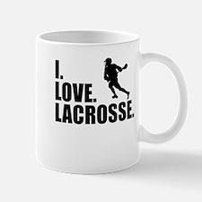 I Love Lacrosse Mugs