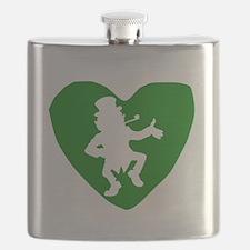 Leprechaun Heart Flask