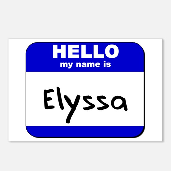 hello my name is elyssa  Postcards (Package of 8)