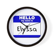 hello my name is elyssa  Wall Clock