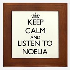 Keep Calm and listen to Noelia Framed Tile