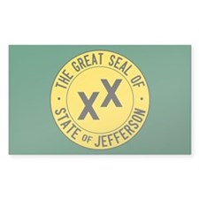 State Of Jefferson Flag Sticker (rectangle)