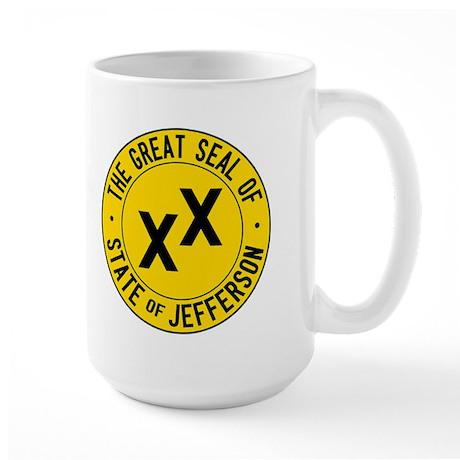 State of Jefferson Flag Large Mug
