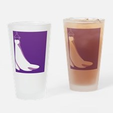 Purple wedding dress on a hanger in Drinking Glass