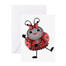 Dancing Ladybug Greeting Card