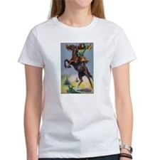Cowgirl on Bucking Horse T-Shirt