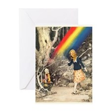 Rainbow and Pot of Gold Greeting Cards