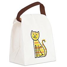 Tabby Cat Canvas Lunch Bag