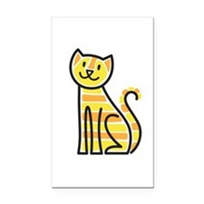 Tabby Cat Rectangle Car Magnet