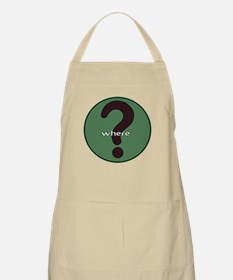 The question is WHERE? BBQ Apron