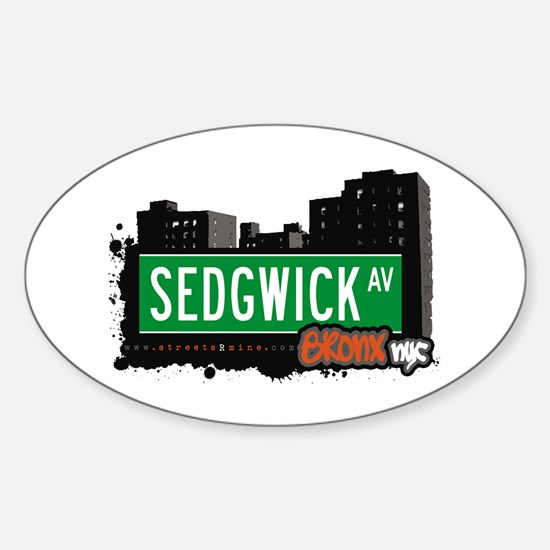 Sedgwick Av, Bronx, NYC Oval Decal