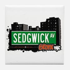 Sedgwick Av, Bronx, NYC  Tile Coaster