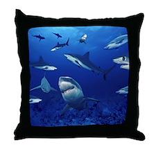 Sharks! Throw Pillow