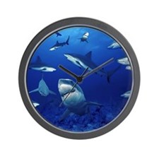 Sharks! Wall Clock