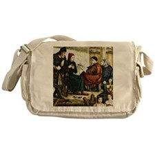 Giotto Painting the Portrait of Dant Messenger Bag