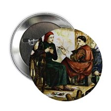 "Giotto Painting the Portrait of Dante 2.25"" Button"