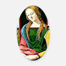 Magdalena Reading, Piero di Cosimo Oval Car Magnet