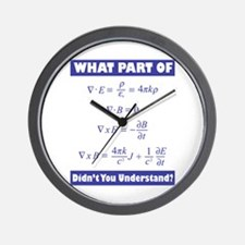 Maxwell's Equations Wall Clock