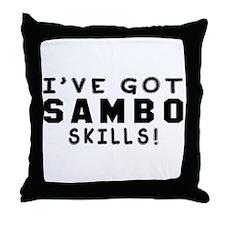 Sambo Skills Designs Throw Pillow