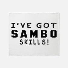 Sambo Skills Designs Throw Blanket