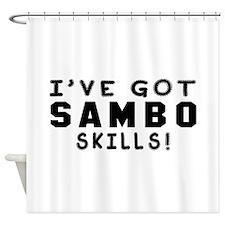 Sambo Skills Designs Shower Curtain