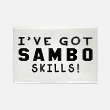 Sambo Skills Designs Rectangle Magnet