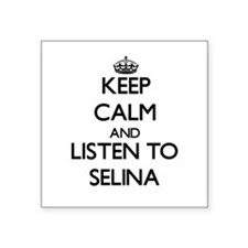 Keep Calm and listen to Selina Sticker