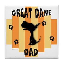 Great Dane Dad Tile Coaster